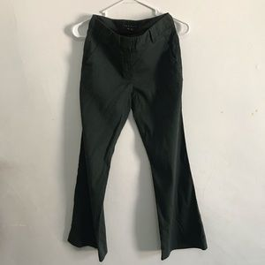 Theory Olive Green Linen Pants
